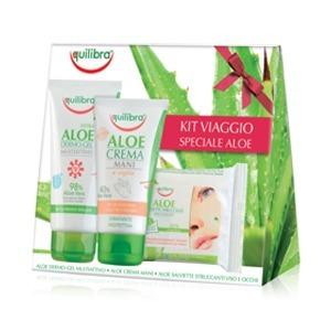 Cofanetto Viaggio Speciale Aloe - Crema Mani 75 ml + Dermo-Gel 75 ml + Salviette Struccanti Minitaglia