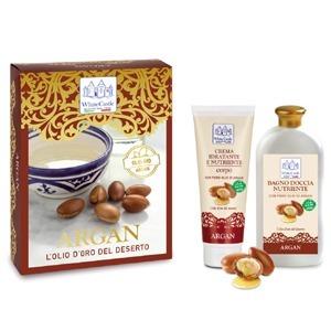 Cofanetto White Castle Argan - Crema Nutriente Corpo 200 ml + Bagno Doccia 450 ml