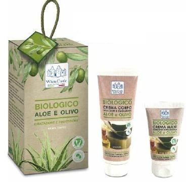 Cofanetto Biologico Aloe e Olivo - Crema Mani 75 ml + Crema Corpo 200 ml