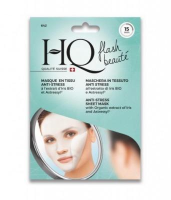 HQ maschera viso in tessuto anti-stress all'estratto di Iris Bio e Astressyl