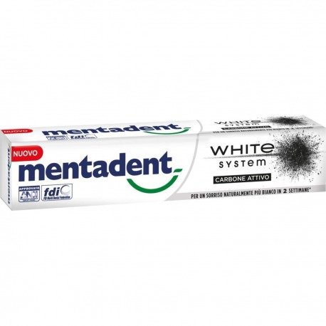 Dentifricio White System Carbone attivo 75 ml | Mentadent