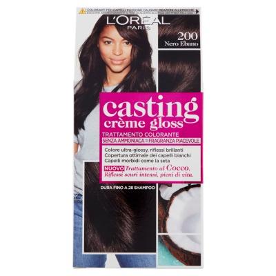 Tinta Per Capelli Casting Creme Gloss Senza Ammoniaca N200 Nero Ebano