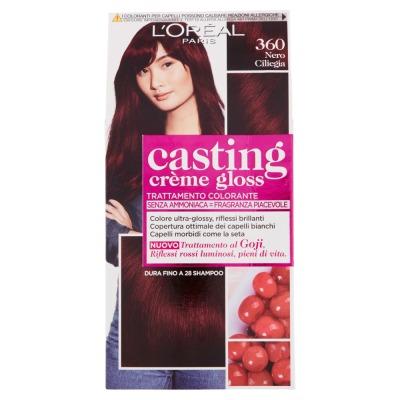 Tinta Per Capelli Casting Creme Gloss Senza Ammoniaca N360 Nero Ciliegia