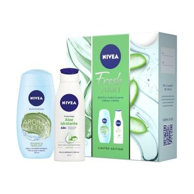 Confezione Fresh Start + Doccia Purificante Argilla Detox Zenzero & Basilico 250 Ml E Crema Corpo Aloe
