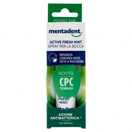 Active Fresh Mint Spray per la Bocca 15 ml | Mentadent