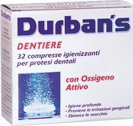 Compresse Igienizzanti E Anti Macchia Per Dentiera Con Ossigeno Attivo 32 Compresse