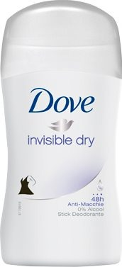 Deodorante Stick Invisible Dry Senza Alcool Antimacchia 30 Ml