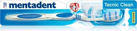Spazzolino Tecnic Clean Medio Con Copritestina | Mentadent